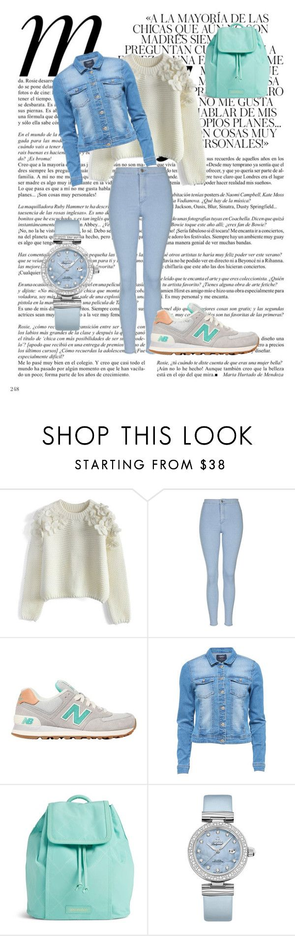 """m.s"" by carolinaborgasimoes on Polyvore featuring beauty, Whiteley, Chicwish, Topshop, New Balance, Vera Bradley and OMEGA"