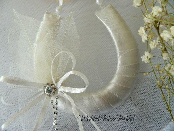 Wedding Horseshoe Bridal Keepsake  Ivory by WeddedBlissBridal