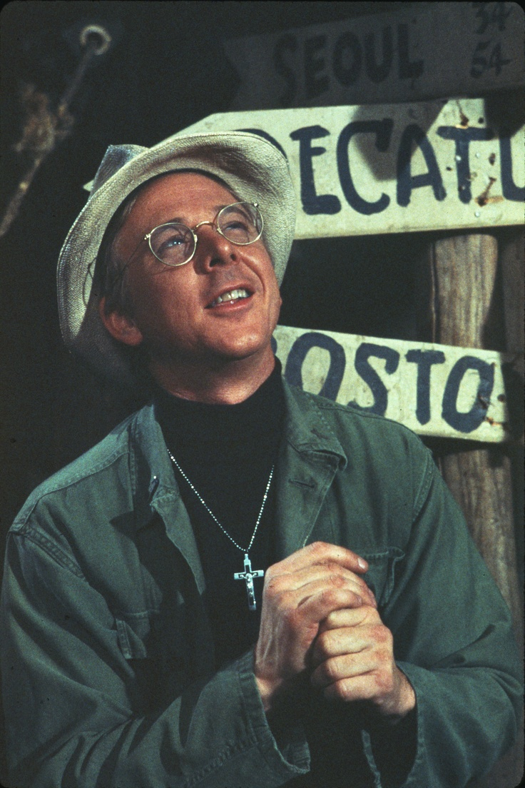 mash - William Christopher as  Cpt. Father John Francis Patrick Mulcahy