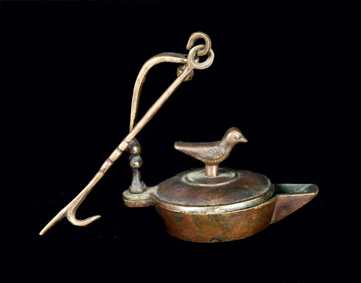 rare brass betty lamp with bird finial 18th or 19th century. Black Bedroom Furniture Sets. Home Design Ideas