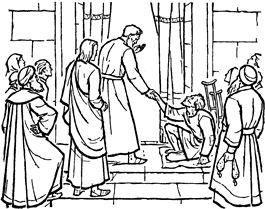 Peter And John Heal The Lame Man Activities