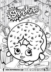Shopkins Coloring Pages Season 1 DLish Donut