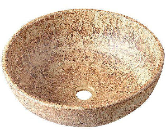 PRIORI keramické umyvadlo, průměr 42cm, hnědá se vzorem, Umyvadla, toalety a dřezy, SAPHO E-shop