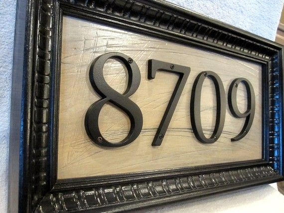 Creative ideas to display your house numbers and/or name