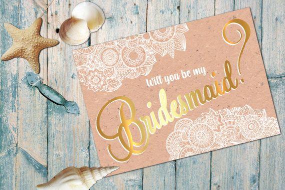 Sarai mio carte di damigella d'onore nozze oro di ArcoDesignGenoa