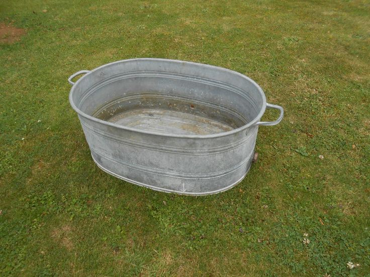 17 Best Images About Bucket And Galvanize Planters On