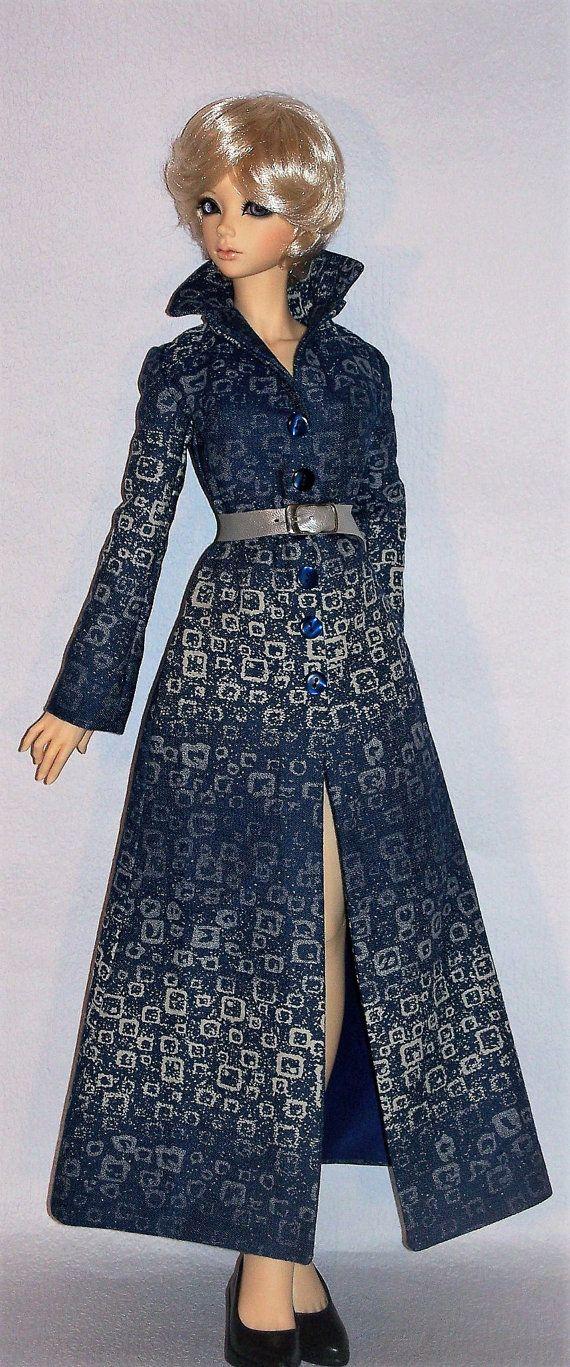Bleu Argent Denim Coat for BDJ Iplehouse Doll par latelierderosy
