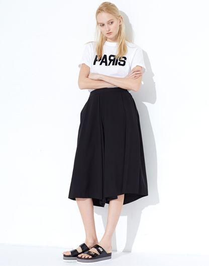 LE CIEL BLEU Paris logo tee and culottes