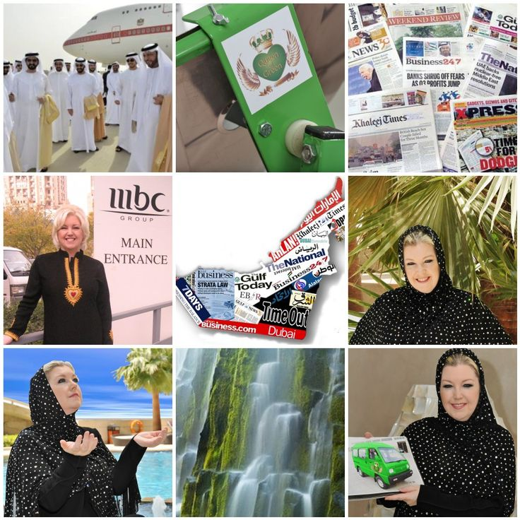 Gill Wallace Hope and Queen of Green featured in #UAE newspapers and regional TV programs including Gulf News, The National and Khaleej Times. She is a world leader on economic and environmental sustainability.
