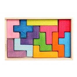 Pentomino - Ecological wooden puzzle