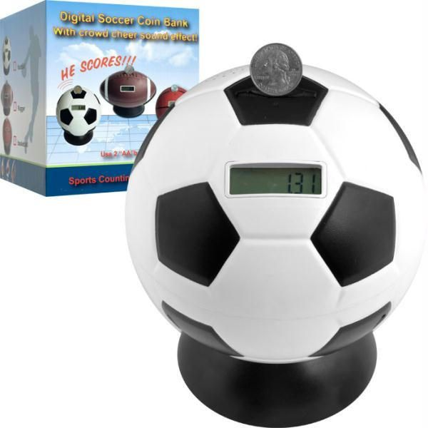 Soccer Ball Digital Coin Counting Bank by TG from eTriggerz. Saved to Soccer. Shop more products from eTriggerz on Wanelo.