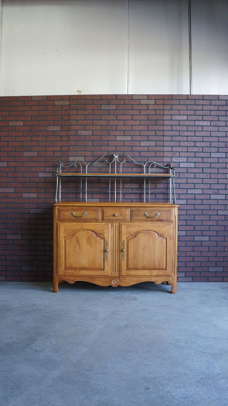 Sideboard / Buffet / Baker's Rack / French Provincial Buffet / Country French Sideboard / Legacy Collection Sideboard by Ethan Allen by EuropeanFlairHome on Etsy