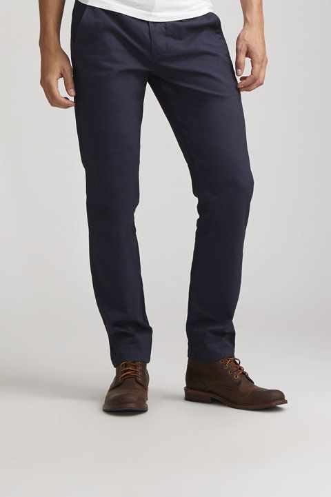 Faded Navy Chino - Woolf - Pants : JackThreads