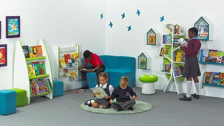 Children reading in school reading corner. Boys reading. Inspiration for classrooms. Classroom reading spaces design ideas.