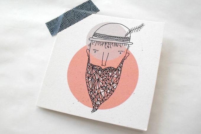 Mr Gembeard Gift Card by Lauren Fowler