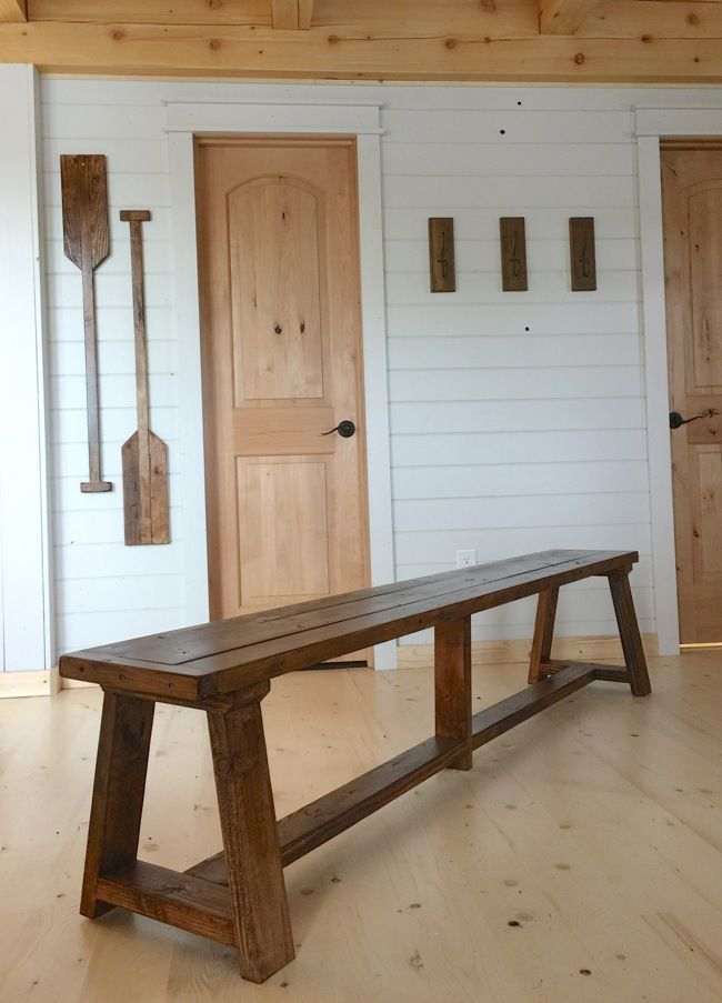 Ana White | Build a 2x4 Truss Benches for Alaska Lake Cabin | Free and Easy DIY Project and Furniture Plans