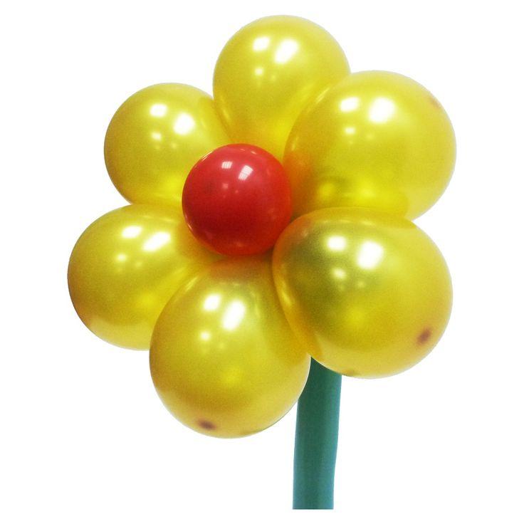 Золотой цветок из воздушных шаров. Видео: https://youtu.be/1pKNx9qmxYY Цветы из воздушных шаров, flower from balloons.
