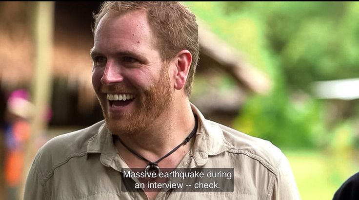 Josh Gates & an earth quake in Papua New Guinea, Expedition Unknown, Amelia Earhart (screen cap)