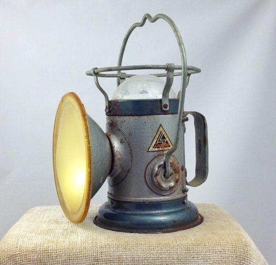 Railroad Lantern Delta Powerlite Vintage Antique