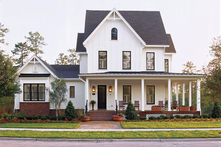 Modern Farmhouse - White Plains Plan #1799 - 17 Pretty House Plans with Porches - Southern Living
