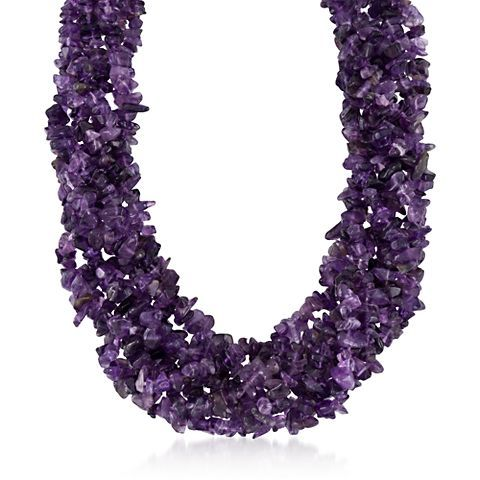 """""""I bought this for my Aunt's Birthday it was spectacular!!! I just loved how it looked when she put it on and she absolutely loved it. I have purchased other items and I have never been disappointed."""" >Amethyst Torsade Necklace #RossSimons"""