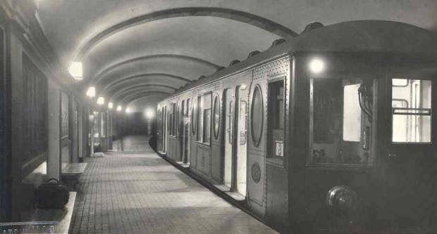 Barcelona, metro linea 1 estació Marina 1933