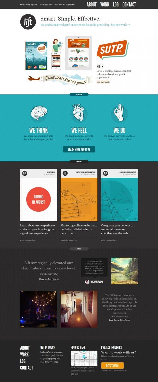 Lift Interactive: Web Design and Web Development - Best website, web design inspiration showcase