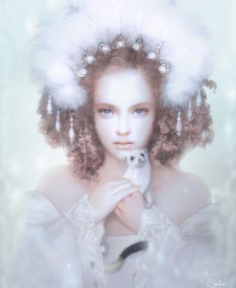 Fairytale fashion fantasy / karen cox.  ♔ fairy tale fashion snow queen