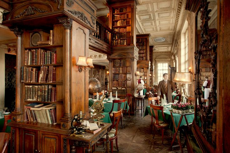 Library at Café Pushkin, Moscow - https://cafe-pushkin.ru/