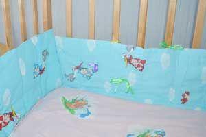 Бортик своими руками для кроватки новорожденного
