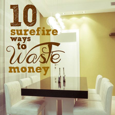 Money saving tips | The Savings Room is dishing up reverse psychology! Learning how to waste money will get you thinking!