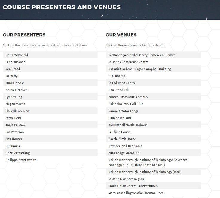 Presenters - http://worksafereps.co.nz/