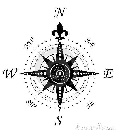 Vintage compass symbol