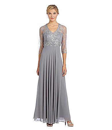 Decode 18 Lace Chiffon Gown #Dillards