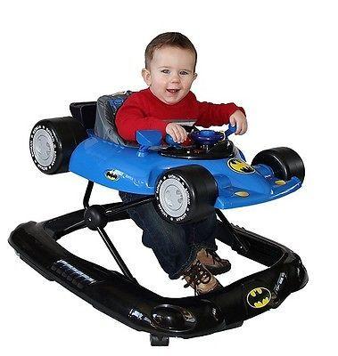 Baby Walker With Wheels Jumper And Bouncer Activity Center Girls Boys Car Batman
