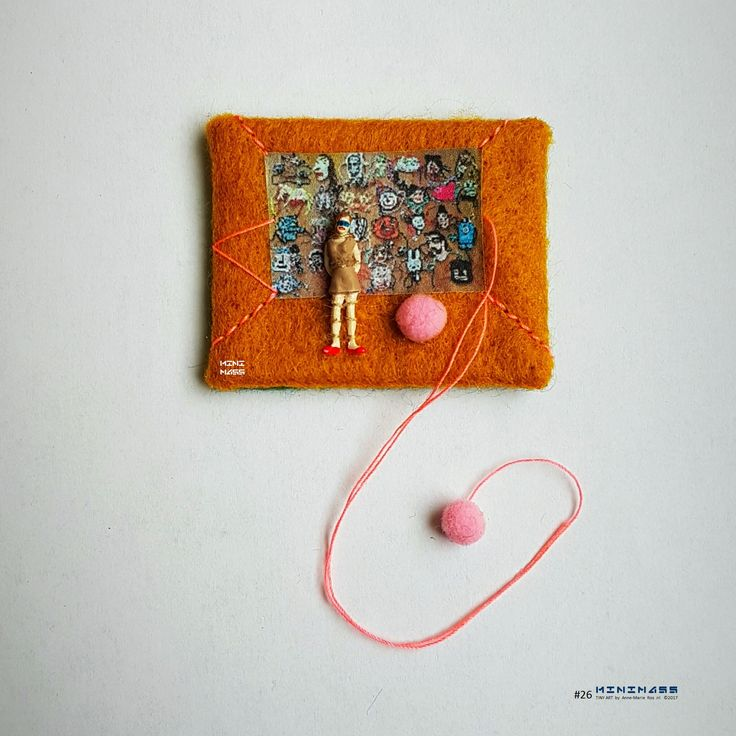 Homage to tThe Cool - MobileGuerrillaKnits. minimass® TINY ART by Anne-Marie Ros .nl #26 is available - makes a great gift or just spoil yourself ;)