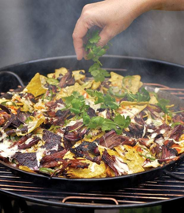 Smoked Nachos from Project Smoke by Steven Raichlen.