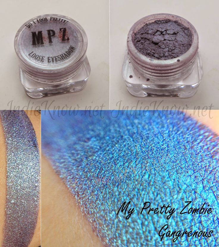 Swatch Post! My Pretty Zombie : Celery and Bile, Cookie Pants, Dirty, and Gangrenous! - Indie Know