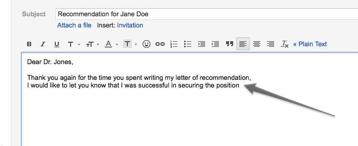 Ask Your Professor for a Letter of Recommendation Via Email - recommendation letter from professor