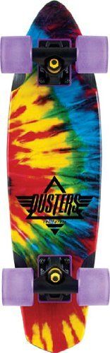 """Dusters Ace Cruiser Complete Skateboard - 24"""" Tie-Dye by Dusters. $85.98. Dusters Ace Cruiser Complete Skateboard - 24"""" Tie-Dye - Ace Dusters are small and functioal with a classic style and are small enough to fit in your locker or your backpack. The Retro Inspired 24"""" shape performs better than the original 70's board!. Save 16% Off!"""