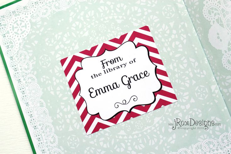 Personalized Your Library with FREE Printable Chevron Book Plates!