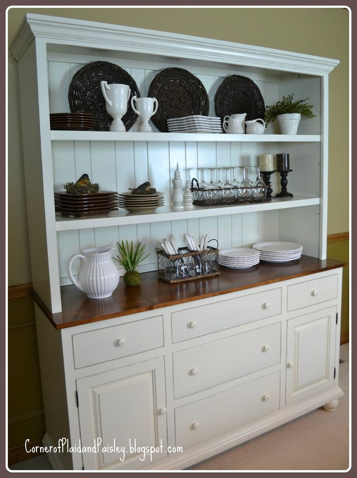 25 best ideas about dining room hutch on pinterest for Hutch decor