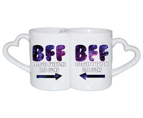 Love Mugs Bff Because Everyone Else Sucks Gift For Couples Valentine Day  Best Friend Forever Matching
