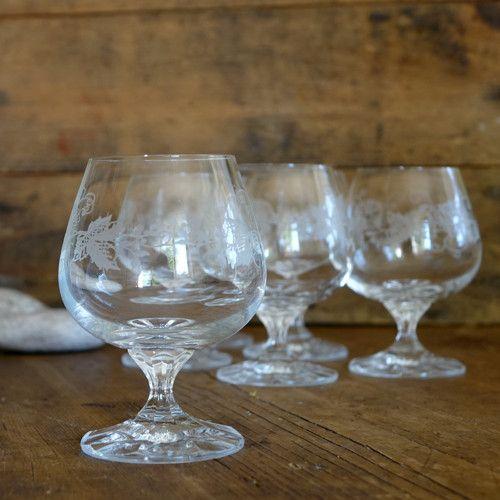 LEDOVÉ KVĚTY ... sklenice s leptaným dekorem