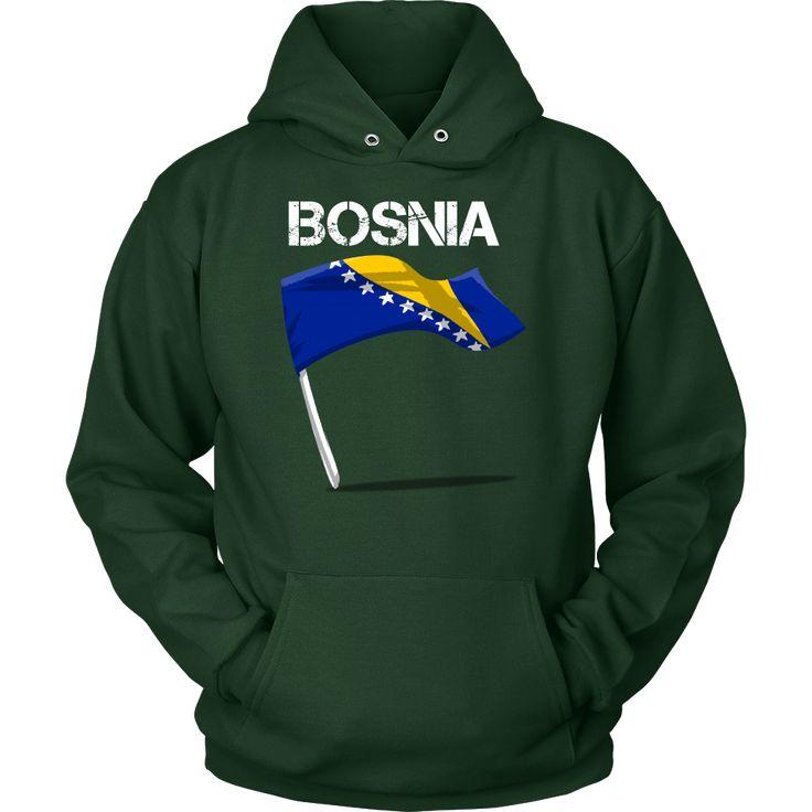 Bosnia Proud Vintage World Flag Hoodie