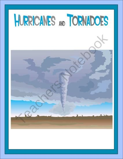Hurricanes and Tornadoes Thematic Unit from Joy of Learning on TeachersNotebook.com (17 pages)  - This unit explains how hurricanes and tornadoes are formed, what they are like, where they occur, and problems they cause. The activity pages include criss cross, word find, spelling, word unscramble and more.