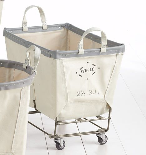 Medium Steele Canvas Laundry Bin Holds 2-1/2 bushels