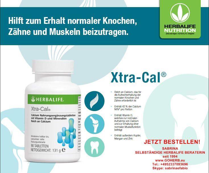 NEUES PRODUKT! XTRA- CAL- Ab SOFORT lieferbar! Xtra-Cal® Xtra-Cal ist eine Nahrungsergänzung, reich an Calcium, die 42 % der Calcium NRV* enthält und zur Aufrechterhaltung normaler Knochen und Zähne beiträgt. Vorteile Reich an Calcium, das zur …