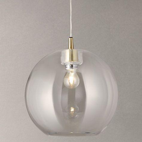 Buy John Lewis Gloria Glass Brass Pendant Light Online at johnlewis.com