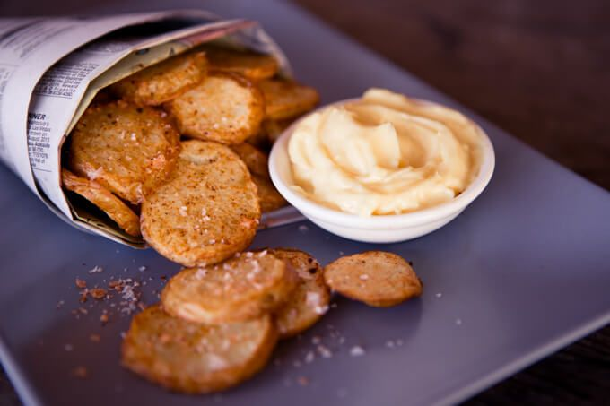 skinnymixer's Aioli (and chipotle chips)